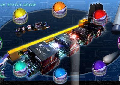 Digital Artist's Palette (RAM Poster)